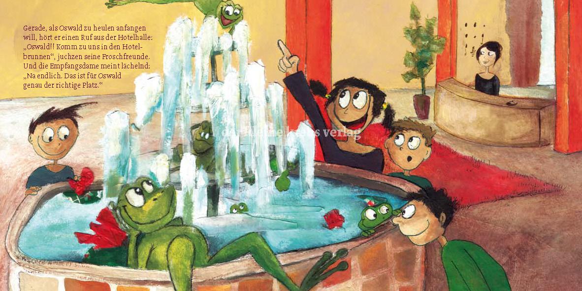 "MINIbuch ""Frosch Oswald im Hotel"""