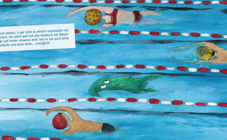 """Produktidee MINIbuch """"Ein perfekter Tag im Schwimmbad"""""""